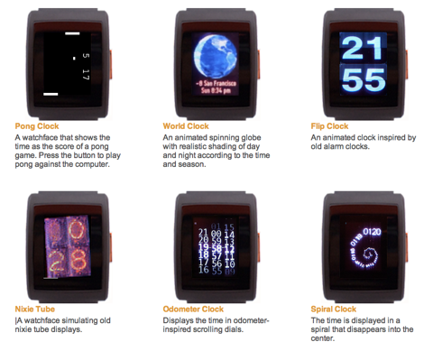 Inpulse clock faces