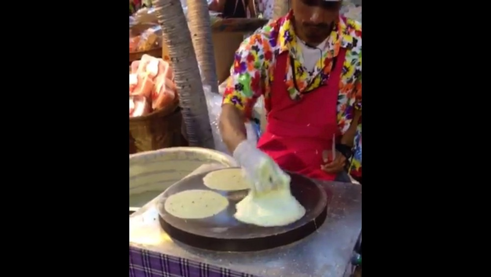 Amazing skill of thai cotton candy crepe stalls 00001