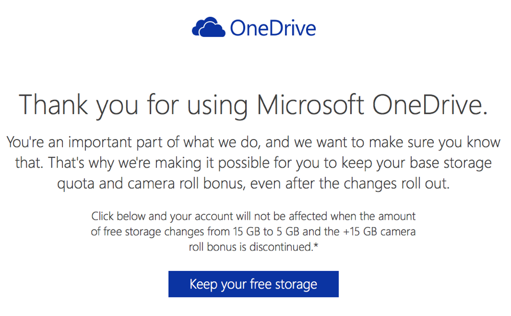 Microsoft onedrive keep 15gb campaign 00002