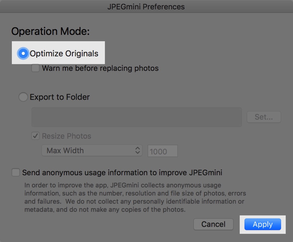 Ensure the disk space by compressing the photo size on macos photos app by jpegmini 00003