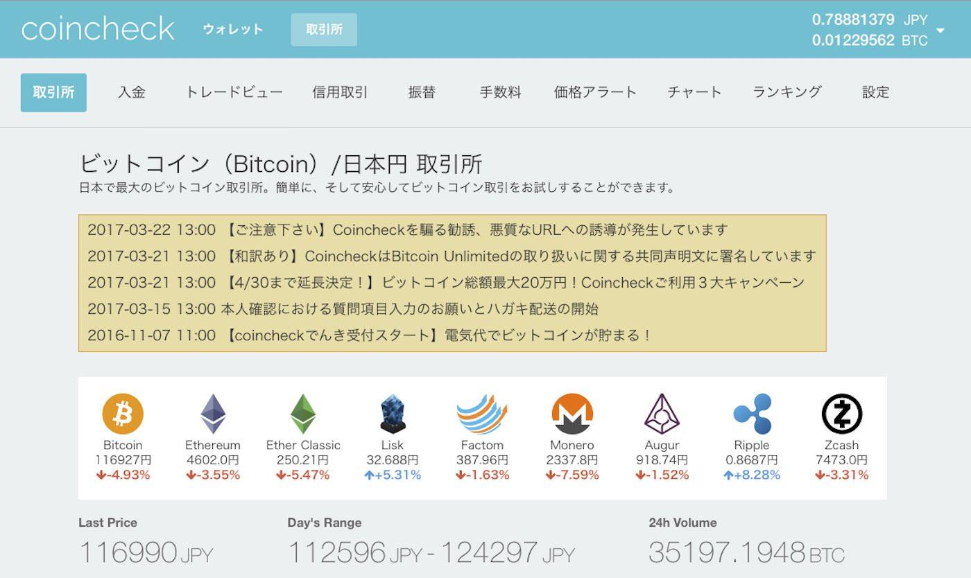 Bitbar coincheck market price btc jpy 00002