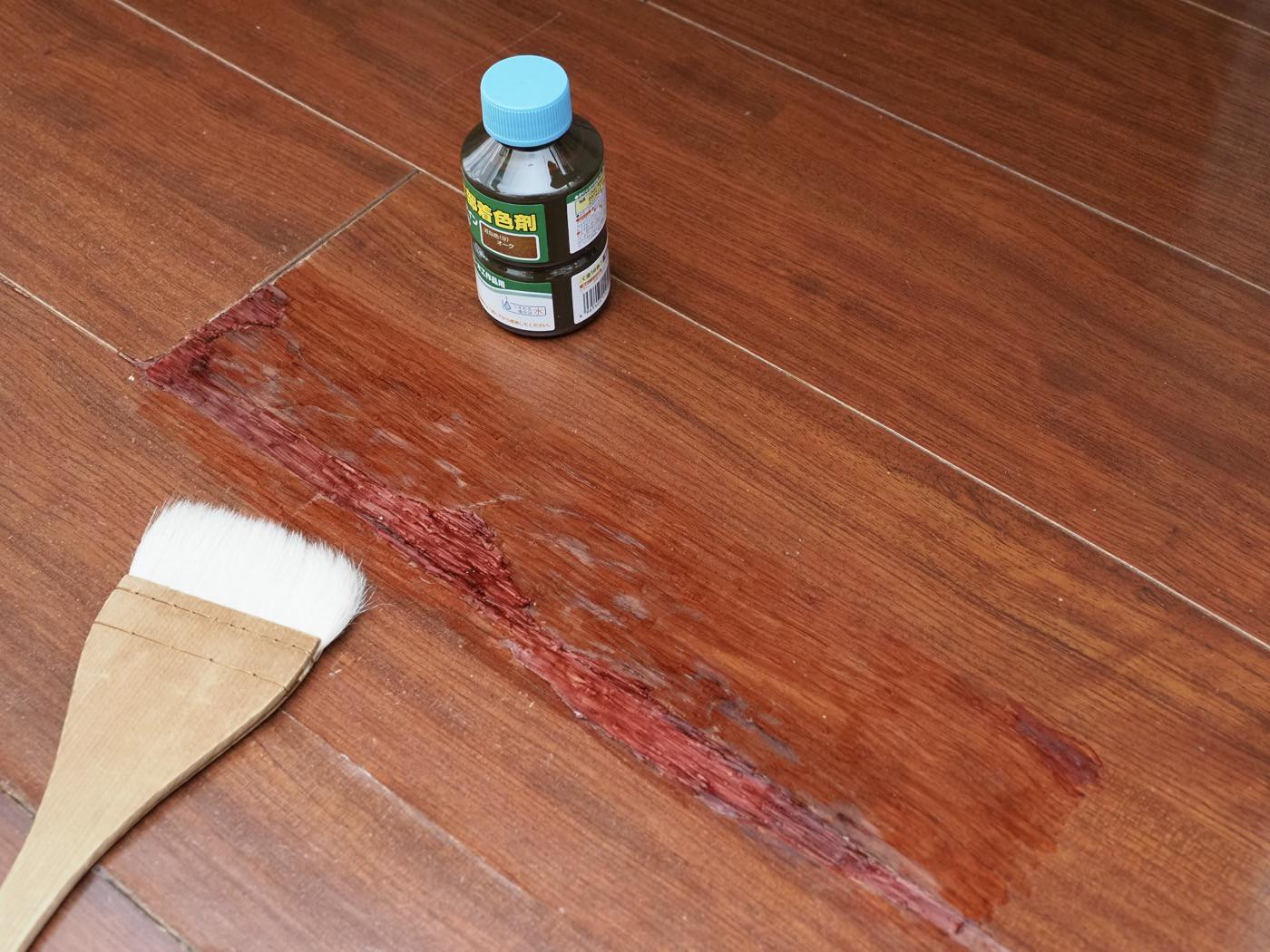 Repaired badly cracked flooring with diy 00012