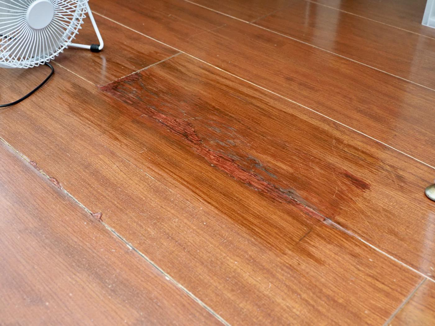 Repaired badly cracked flooring with diy 00014