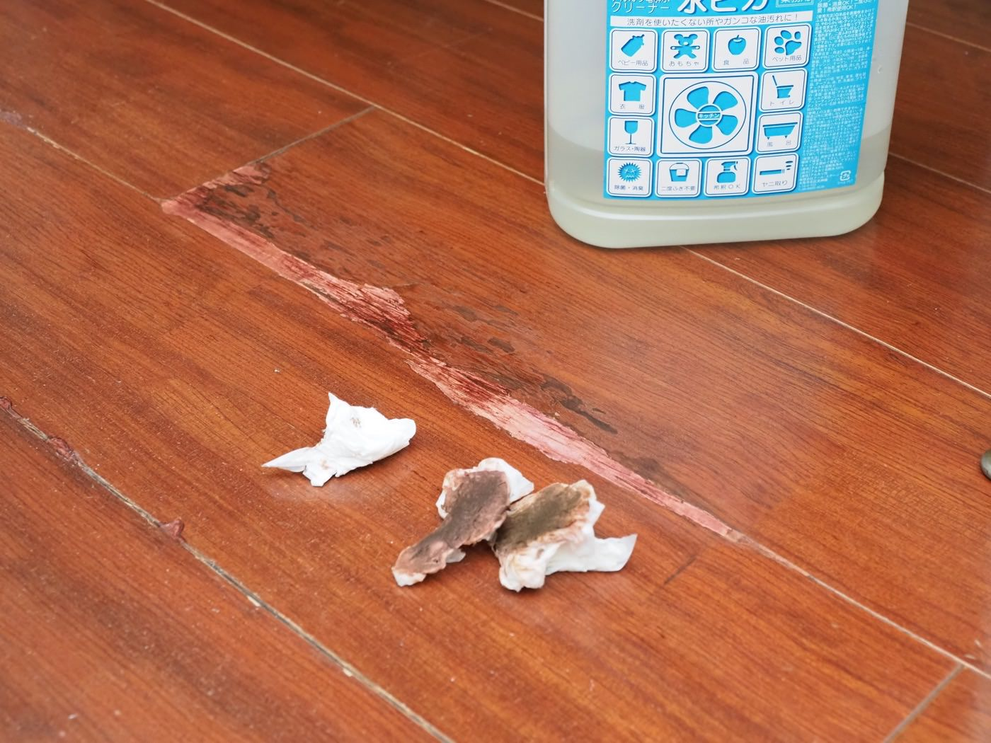 Repaired badly cracked flooring with diy 00016